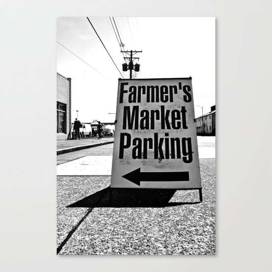 Market Parking Here Canvas Print