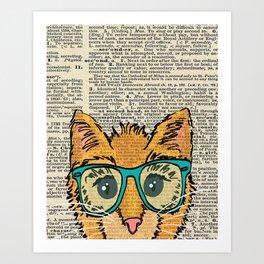 Orange Kitty Cat Art Print