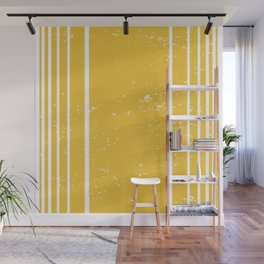 Yellow Stripes Summer Pattern Wall Mural