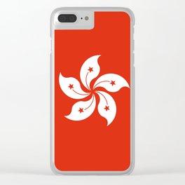 Hong Kong Flag I love HK Clear iPhone Case