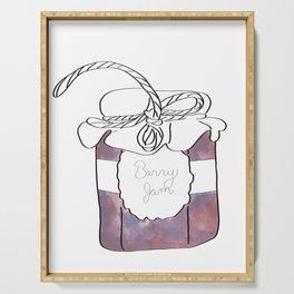Purple Berry Jam Jar Digital Design Serving Tray