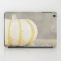 striped iPad Cases featuring Striped  Pumpkin by Pure Nature Photos