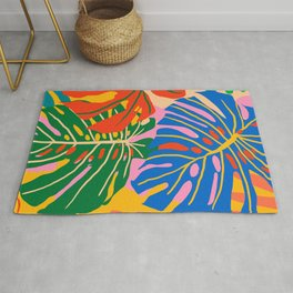 She Always Wears Neutrals But Has The Most Colorful Mind #painting #botanical Rug