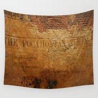 pocahontas Wall Tapestries featuring The Pocahontas Times by Andrea Jean Clausen - andreajeanco
