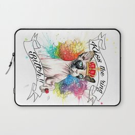 Kiss the ring Bitch Laptop Sleeve