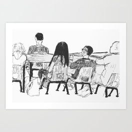 Coping Art Print