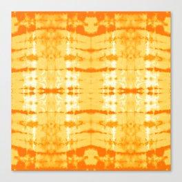 Satin Shibori Yellow Canvas Print
