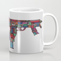 guns Mugs featuring Guns by Sharif El Fatatry