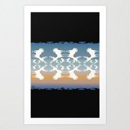 Cervidae Deer in the Magic Hour Art Print