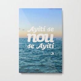 Ayiti Se Nou - Beach Sunset Metal Print