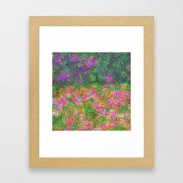 Meadow Pattern With Flowers Framed Art Print