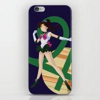 sailor jupiter iPhone & iPod Skins featuring Sailor Jupiter by InsertCreativeTitle