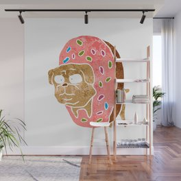 pug and donut. Wall Mural
