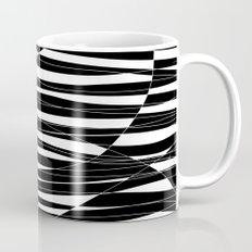 Carved Black and White Wave Mug