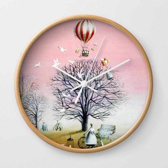 Baby's breath Wall Clock