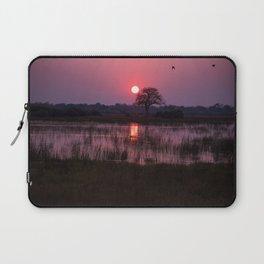 Botswana Africa Sunset over a Marsh Laptop Sleeve