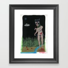 Blood Cats Framed Art Print