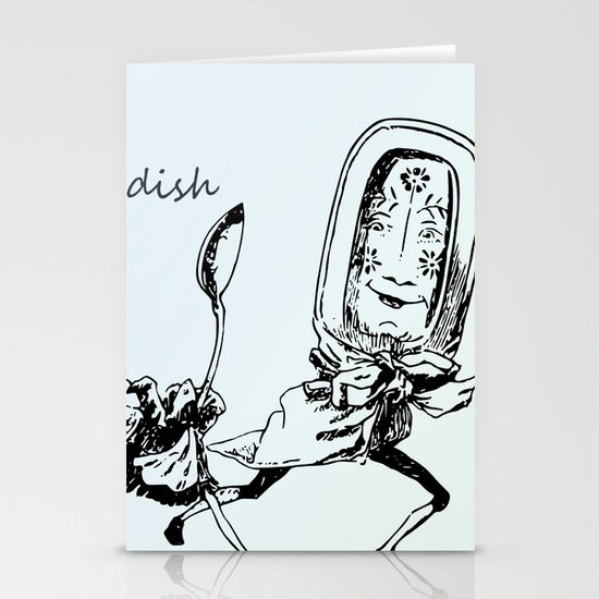 Vintage Dish and the Spoon Stationery Cards