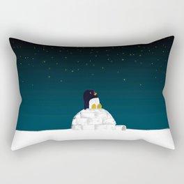 Star gazing - Penguin's dream of flying Rectangular Pillow