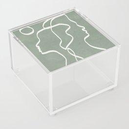 Abstract Faces Acrylic Box