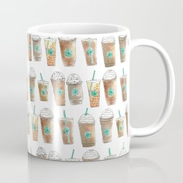 Coffee Cup Line Up in White Cream Coffee Mug