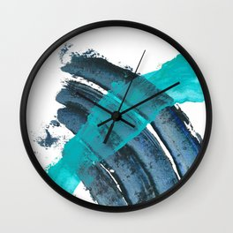 """""""School's Out for the Summer"""". Phthalo Green Series, No.19. Wall Clock"""