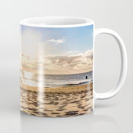 Beach chair in the morning after sunrise Coffee Mug