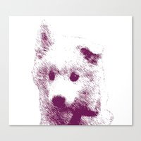 puppy Canvas Prints featuring Puppy by Deliratio