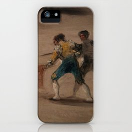 Bullfight in a Divided Ring iPhone Case