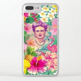 Frida Jungle Clear iPhone Case