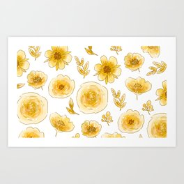 Yellow roses67 6 Art Print