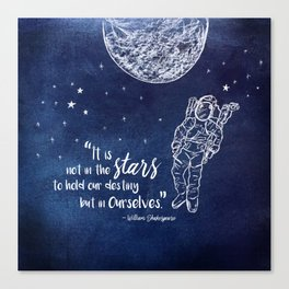 Shakepeare Not in the Stars Canvas Print