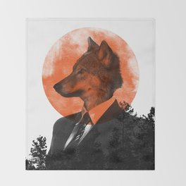 The real Wolf of Wall Street Throw Blanket