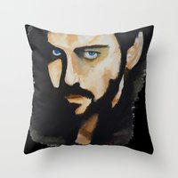 hook Throw Pillows featuring Hook by Brittany Ketcham