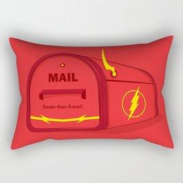 Faster than E-mail Rectangular Pillow