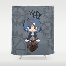 Steampunk Sailor Mercury Shower Curtain