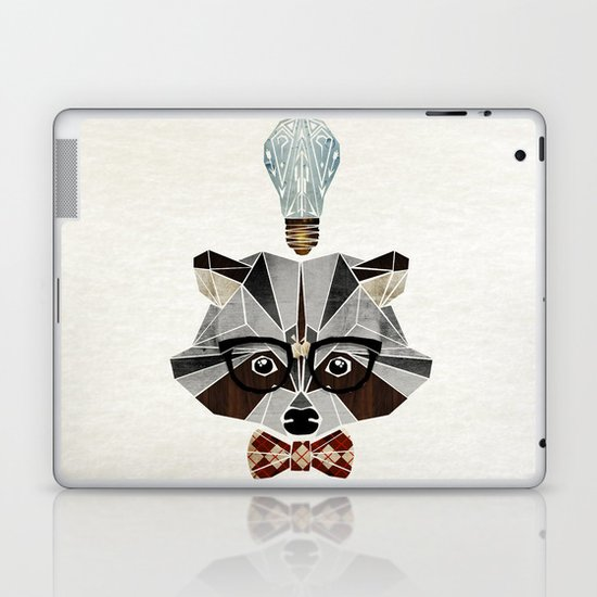 raccoon nerd Laptop & iPad Skin