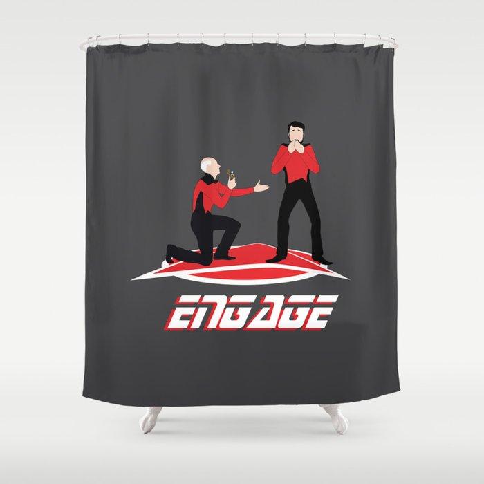 Long Trek to Forever Shower Curtain
