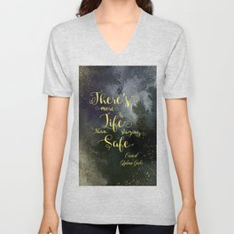There's more to life than staying safe. Caraval Unisex V-Neck