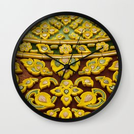 flower statue in Thai style Wall Clock