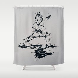 Splaaash Series - Lan Lan Ink Shower Curtain