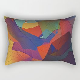 The Rocks by the Lighthouse Rectangular Pillow