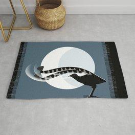 Lyrebird in the Moonlight Rug