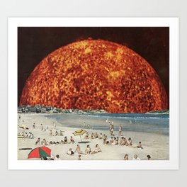 Sunday at the Beach Art Print