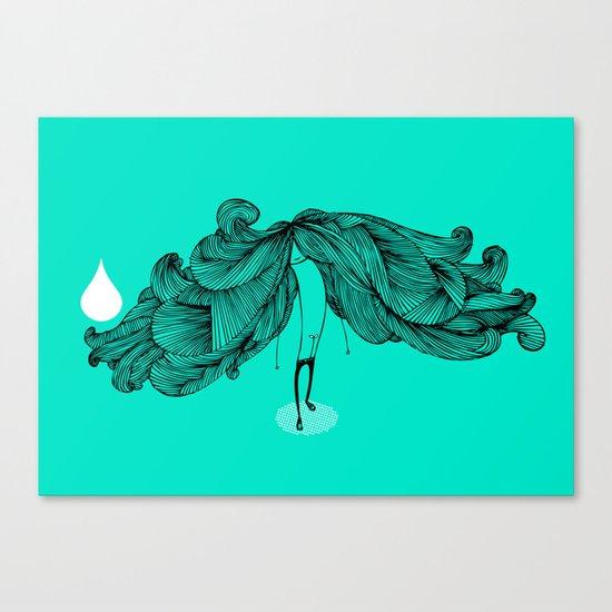 BIG HAIR DAY (Turq version) Canvas Print