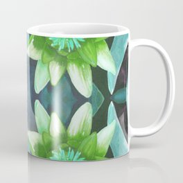 Teal Green Bromeliad Pattern Coffee Mug