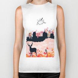 """""""Deer in the city"""" Biker Tank"""