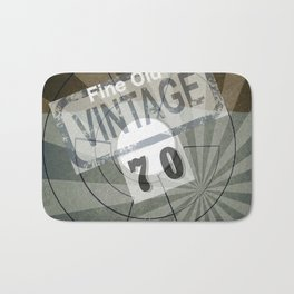 Fine Old Vintage 70 Bath Mat