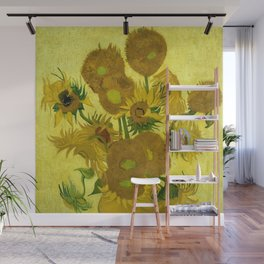 """Vincent van Gogh """"Vase with Fourteen Sunflowers"""" Wall Mural"""