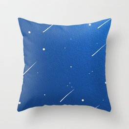 Shooting Stars in a Clear Blue Sky Throw Pillow